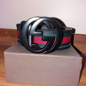 Gucci Men Leather Belt